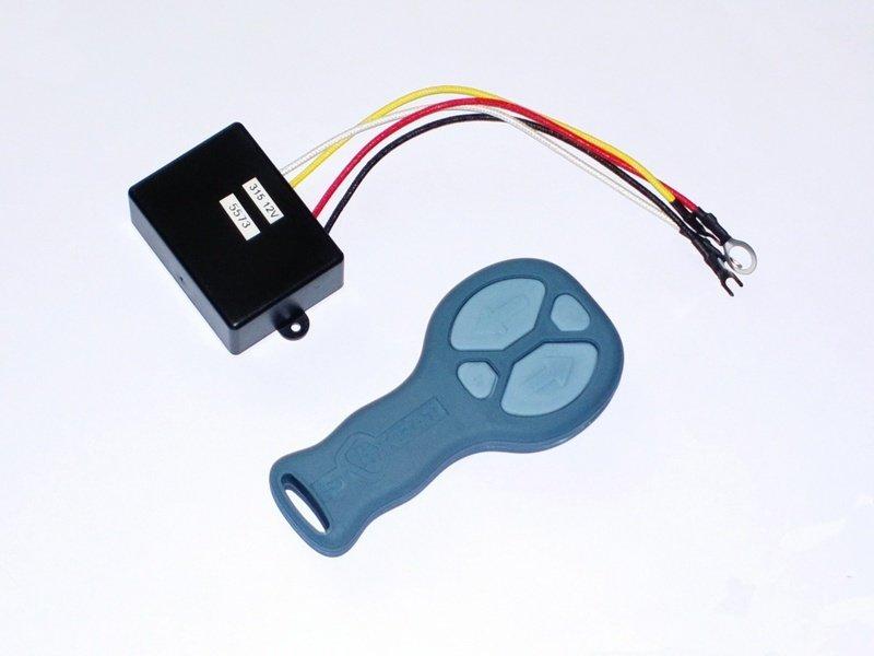 Комплект дистанционного беспроводного пульта управления для всех лебедок СТОКРАТ (серый)
