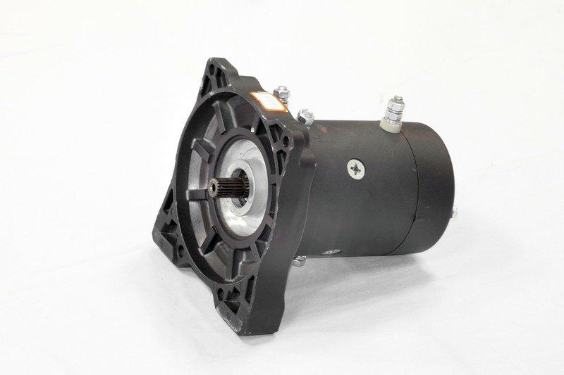 Запасной электромотор в сборе с боковиной для лебедки  СТОКРАТ HD 12.5 WP