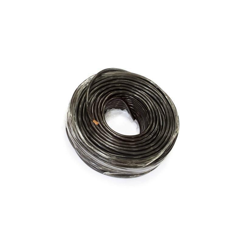 Медный провод для подключения выносной лебедки в изоляции из мягкого пластика сечением 25 квадратных мм (черная изоляция)
