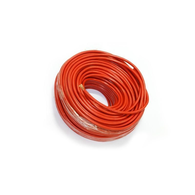 Медный провод для подключения выносной лебедки в изоляции из мягкого пластика сечением 25 квадратных мм (красная изоляция)