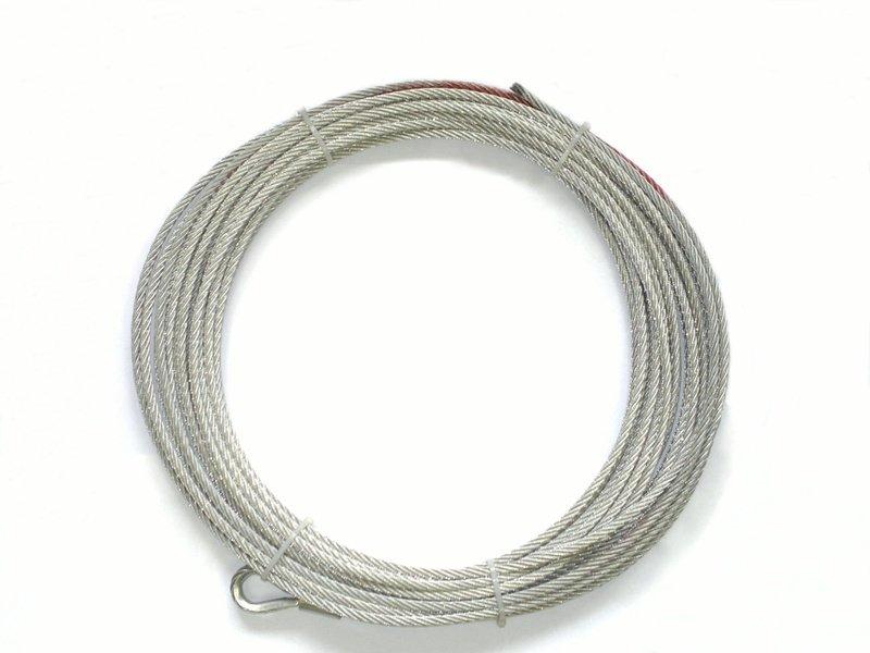 Запасной стальной трос для лебедок СТОКРАТ SD 8.0, SD 9.5, HD 9.5 (длинна 28 м, диаметр 8.3 мм).