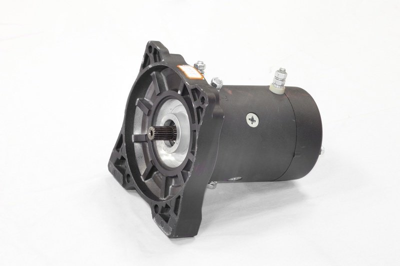 Запасной электромотор в сборе с боковиной для лебедки  СТОКРАТ HS 8.8 WP