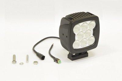 Фара дополнительная светодиодная квадратная рабочего света 80 Вт, 60 градусов. (СТОКРАТ)