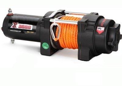 Лебедка для квадроцикла ORT 3000 Lb/1361 кг, кевларовый трос 10м, 12 вольт.