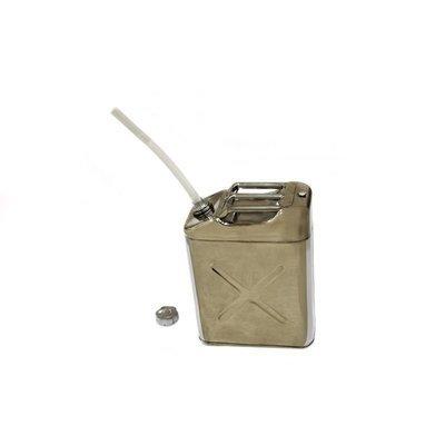 Канистра для ГСМ,  20 литров, полированая нержавейка
