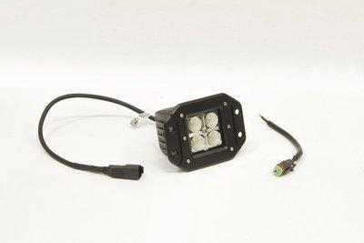 Фара дополнительная светодиодная прямоугольная врезная рабочего света 12 Вт, 45 градусов. (СТОКРАТ)