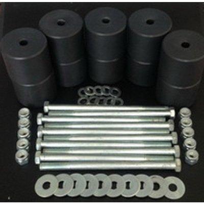 Боди лифт комплект 50 мм УАЗ Патриот капролон (d=60 мм) с крепежом (10 болтов М12x200) чёрный цв.