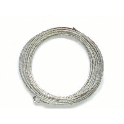 Запасной стальной трос для лебедок СТОКРАТ SD 6.0 (длинна 24 м, диаметр 7.2 мм).