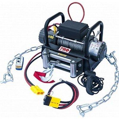 Лебёдка переносная РИФ 9000 c площадкой на цепях и проводами (в сборе)
