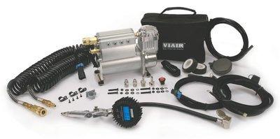 Автомобильный компрессор универсальный со встроенным ресивером 12v viair 400c хром 40049v