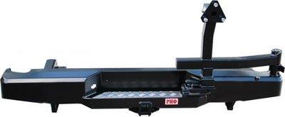 Бампер задний силовой с квадратом и калиткой РИФ Navara D40
