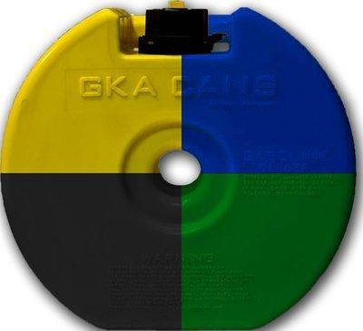 Канистра круглая GKA «НЗ» в запасное колесо 4 литра