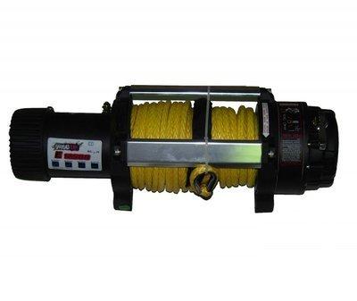 Лебедка для внедорожника ORT 12500 Lb/5670 кг, кевларовый трос 24м, 12 вольт.