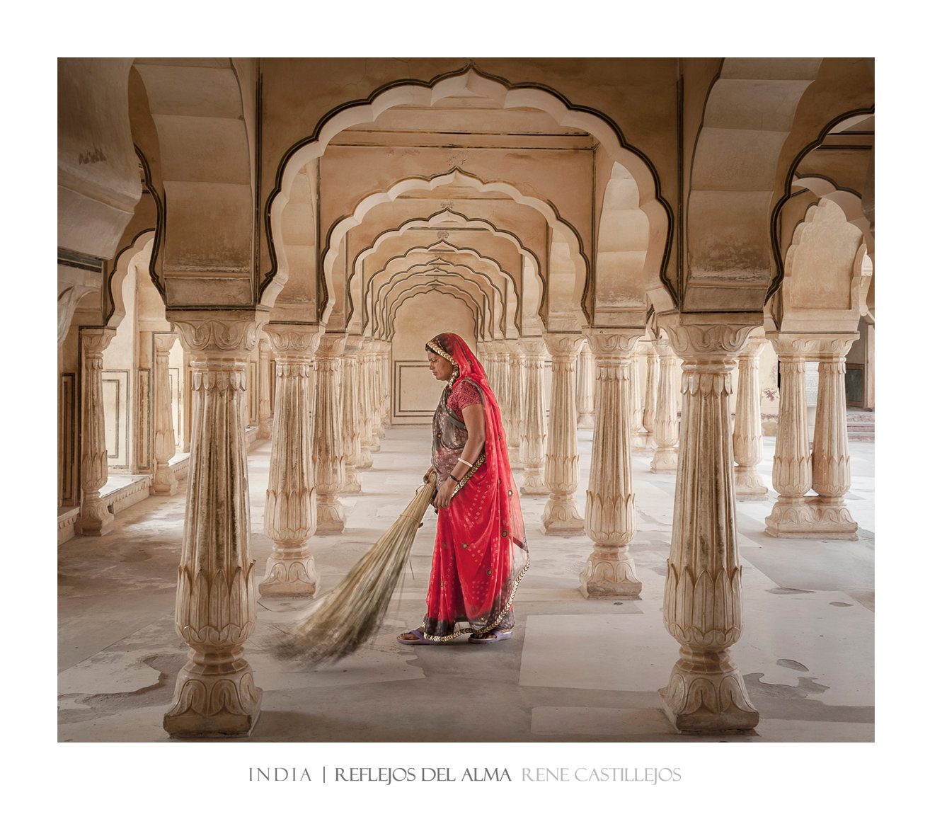 WOMAN OF RED IN AMBER FORT
