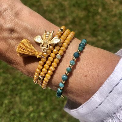 Gold Bee Charm Bracelet/Necklace