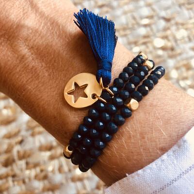 Navy Star Charm Bracelet/Necklace