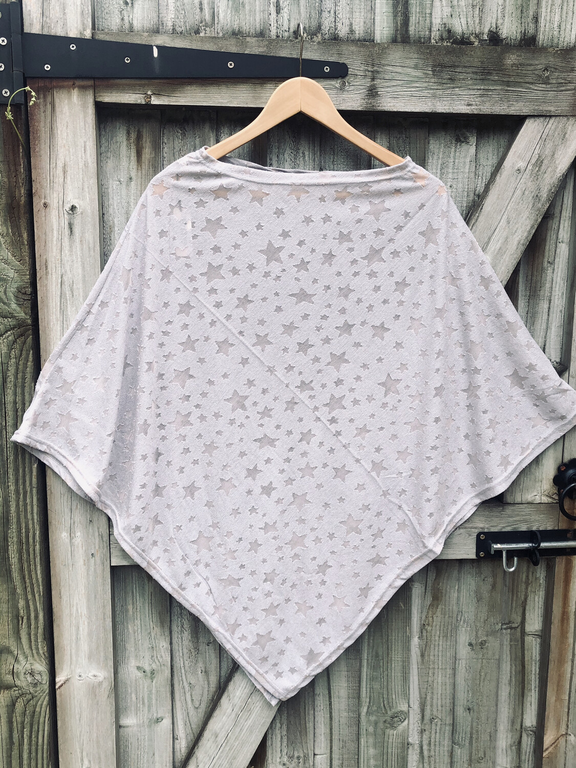 Star Poncho Grey