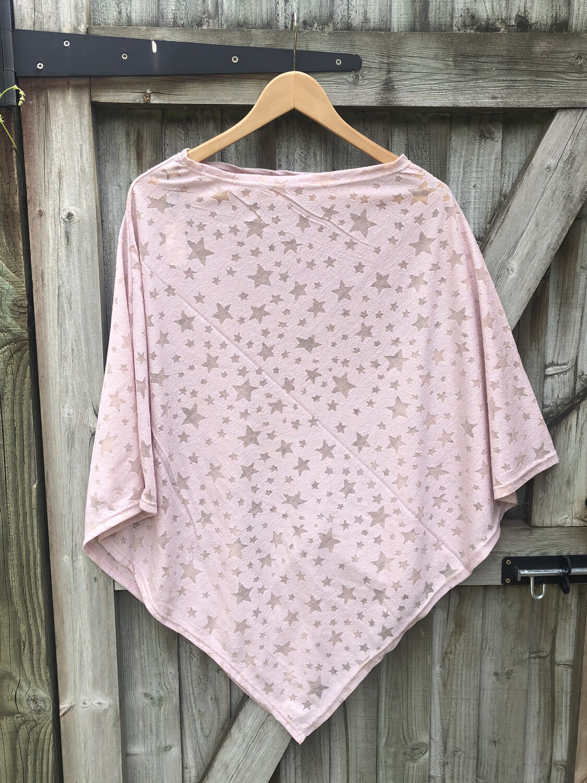 Star Poncho Pink