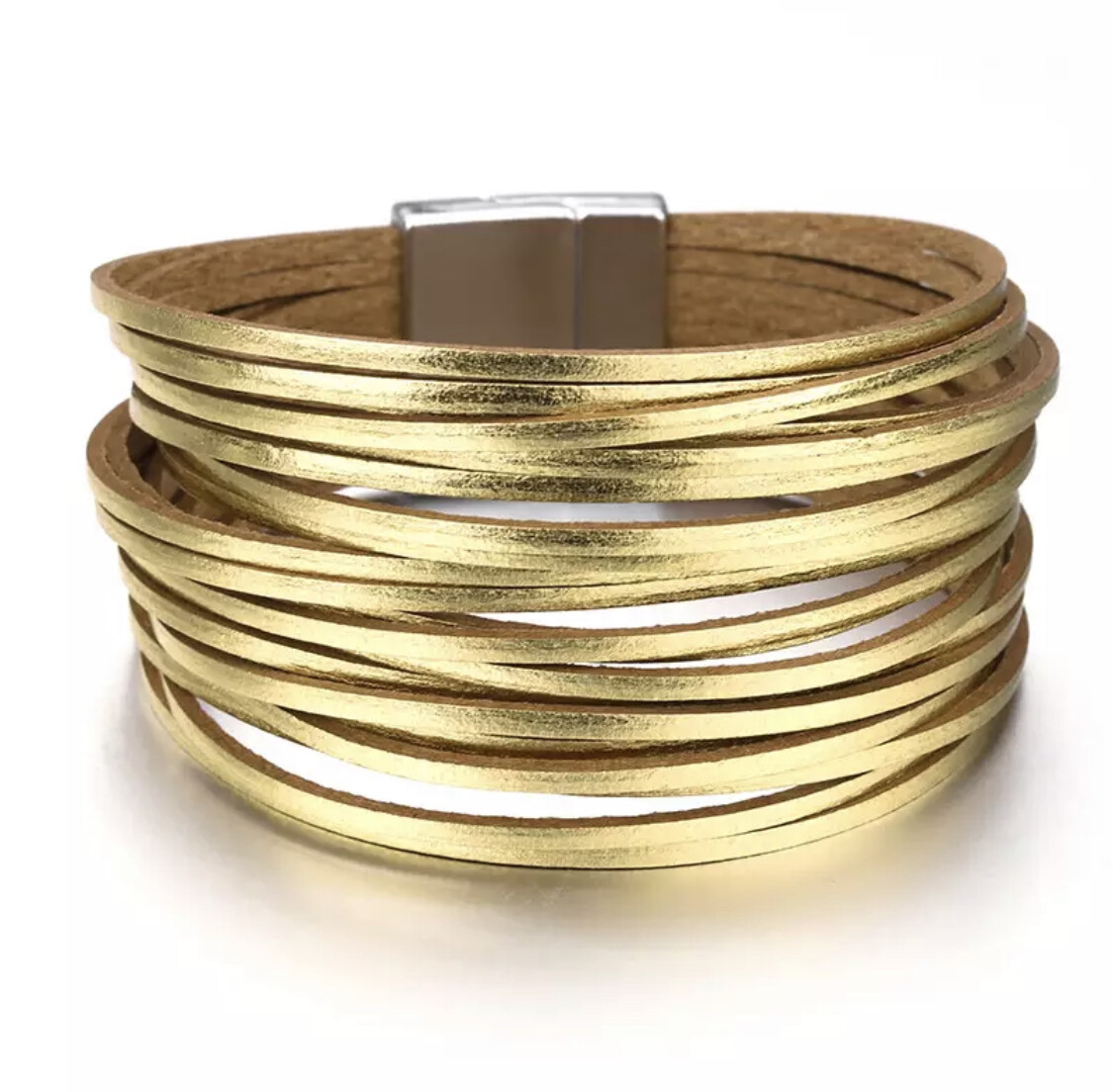 Cara Leather Wrap Gold