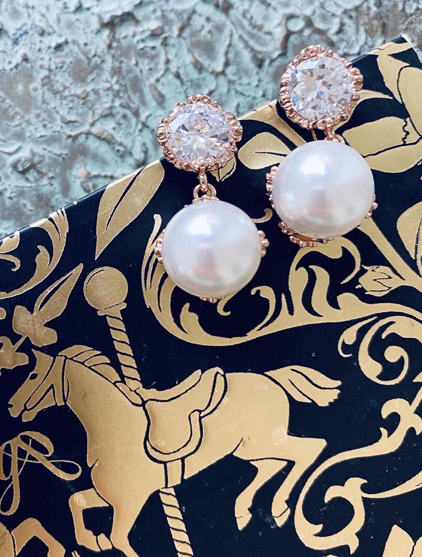 Francesca Pearl Drop Earrings