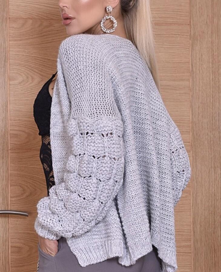 Sonia Knit Cardi Grey
