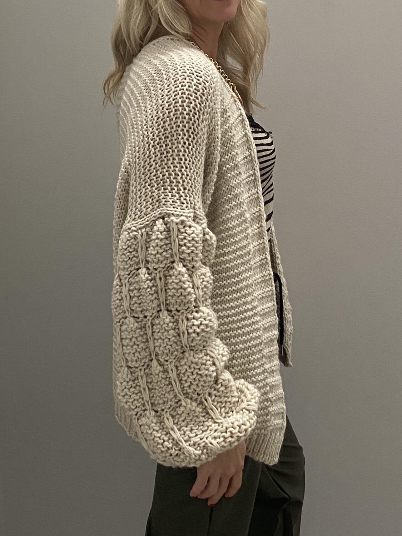 Sonia Knit Cardi Oatmeal