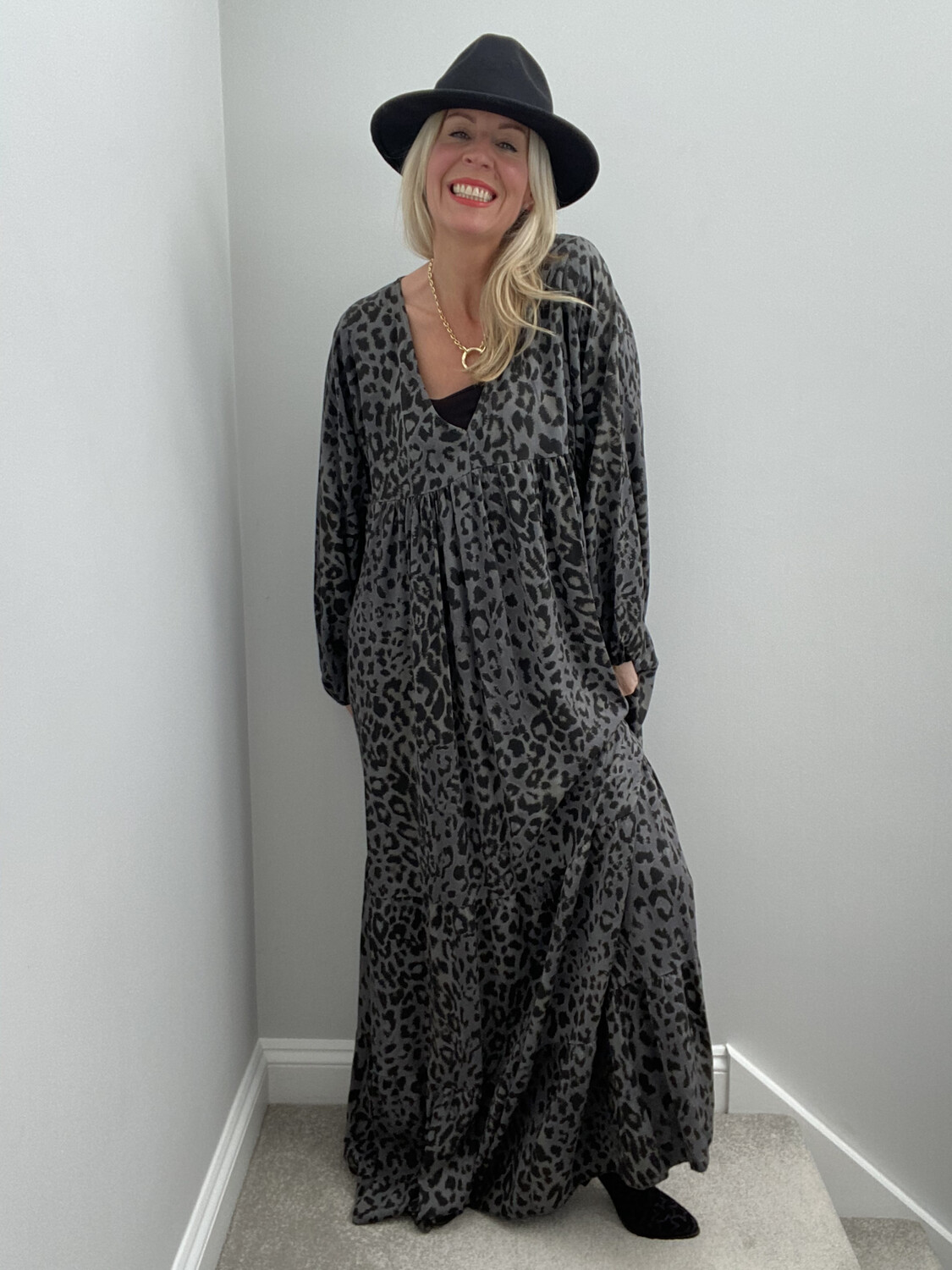 Laura Tiered Maxi Charcoal