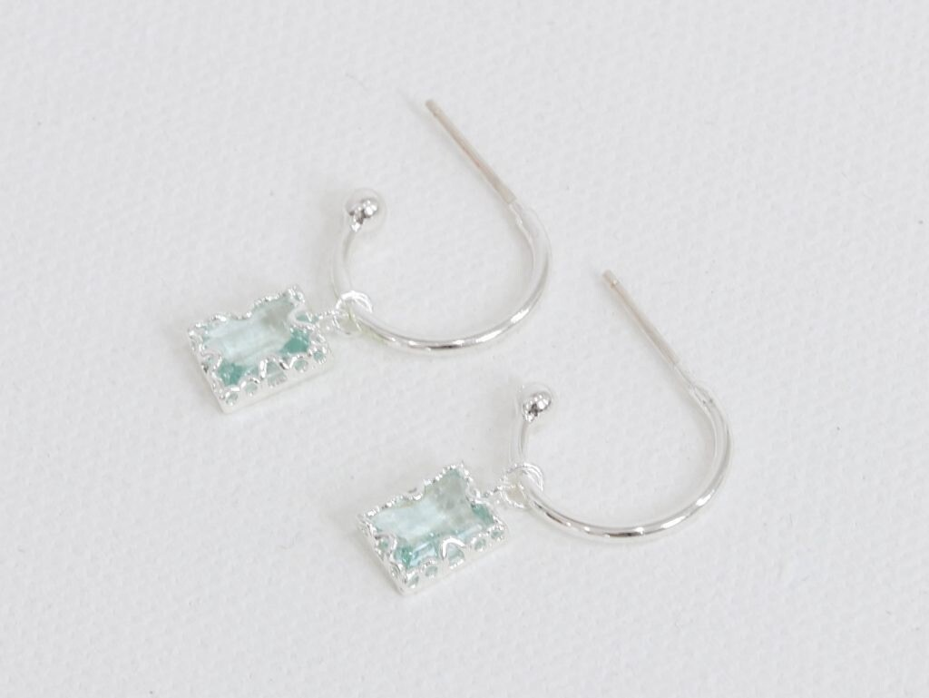 Ophelia Crystal Hoops (Demi Fine Earrings)