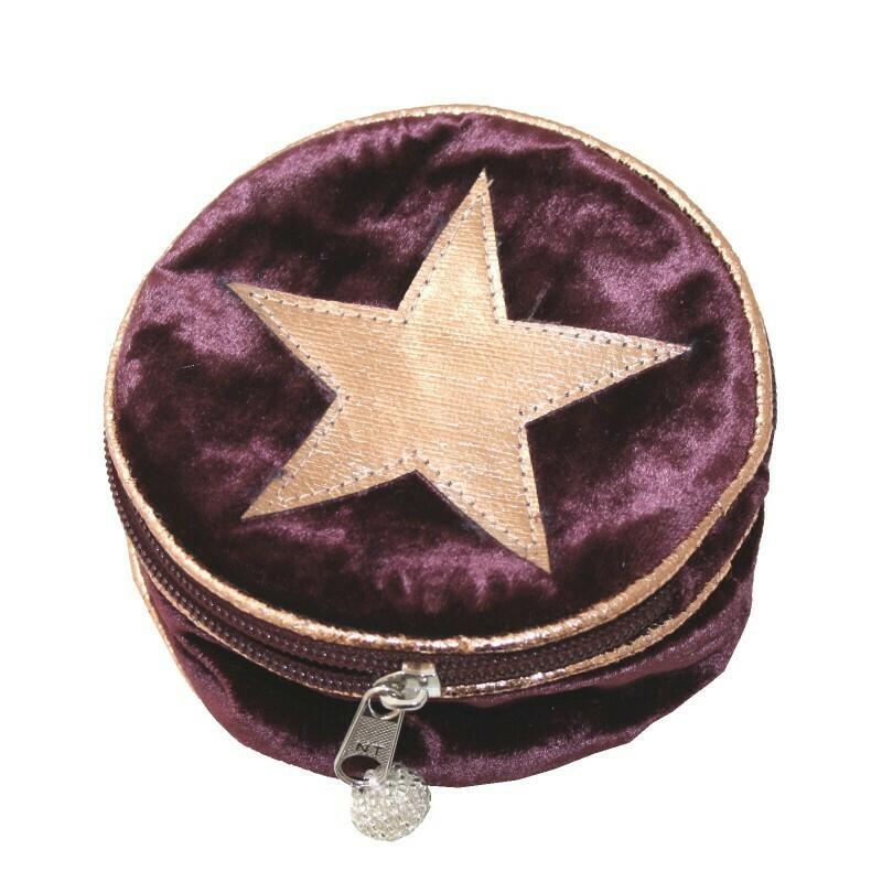Jewellery Purse Velvet Star