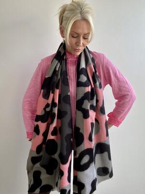 Multi Leopard Blanket Scarf