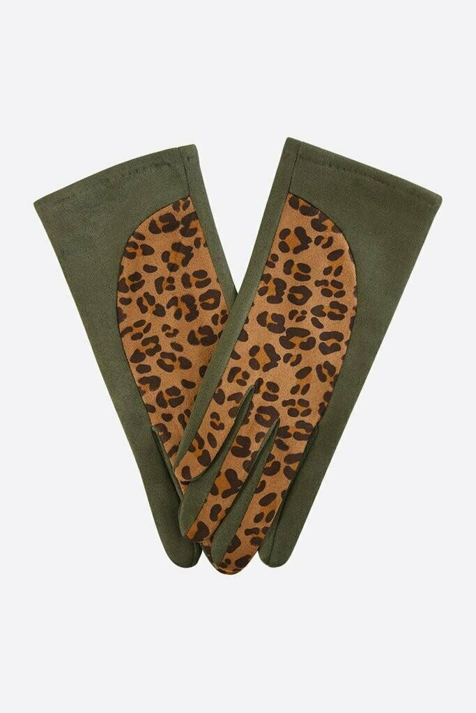 Khaki & Leopard Gloves