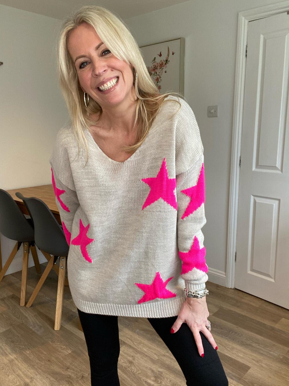 Lottie Star Knit Beige