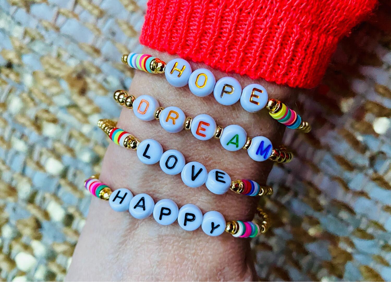 Positivity Bracelets Coloured