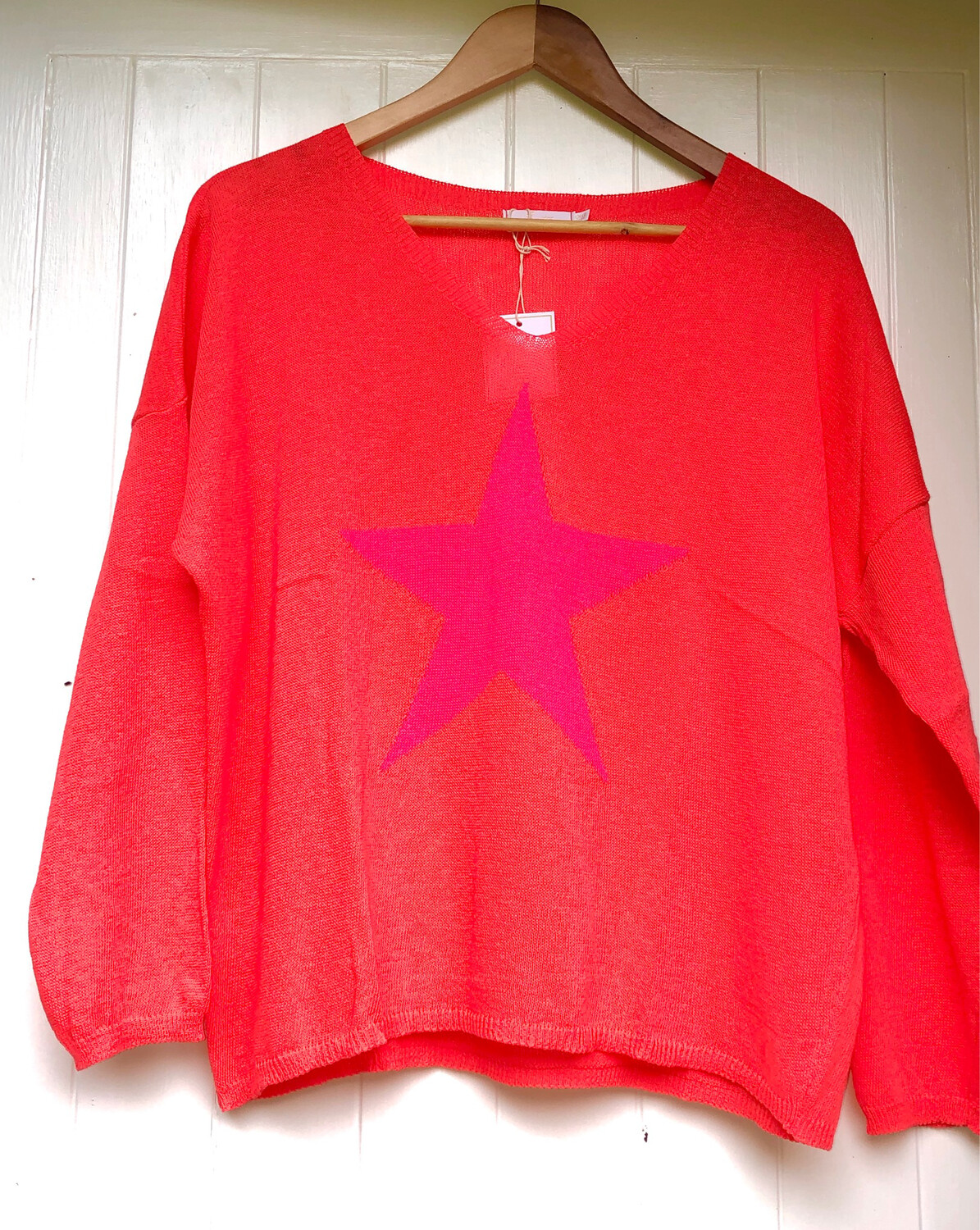 Nova Star Jumper Orange/Fuchsia Star