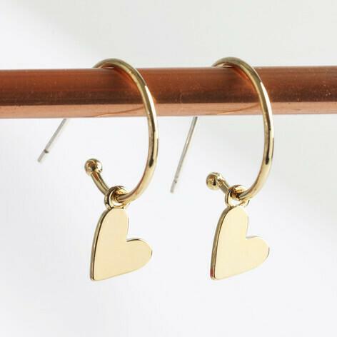 Amore Hoops Gold
