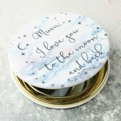 I love You To The Moon Compact Mirror