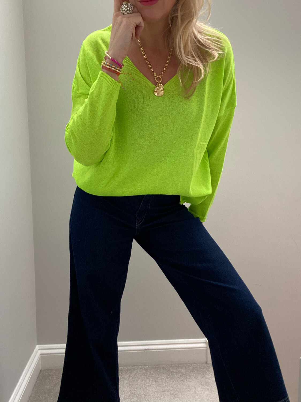 Lexi Jumper Neon Yellow