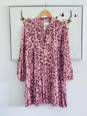 Dani Short Smock Dress Rose