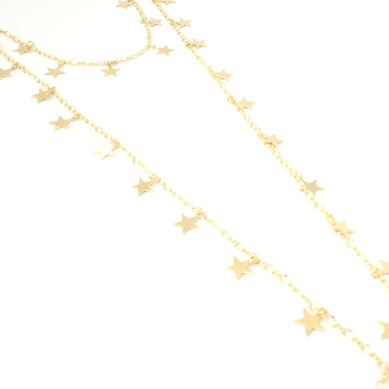 Daisy Star Double Row Necklace