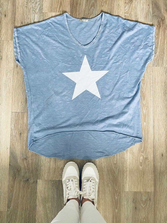 Star Tee Powder Blue