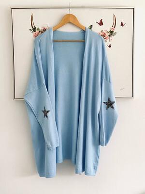 Emily Star Cardigan Sky Blue