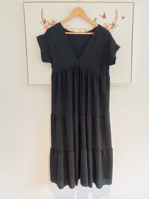 Cheska Midi Dress Black