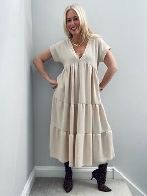 Cheska Midi Dress Stone