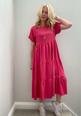 Cheska Midi Dress Rose