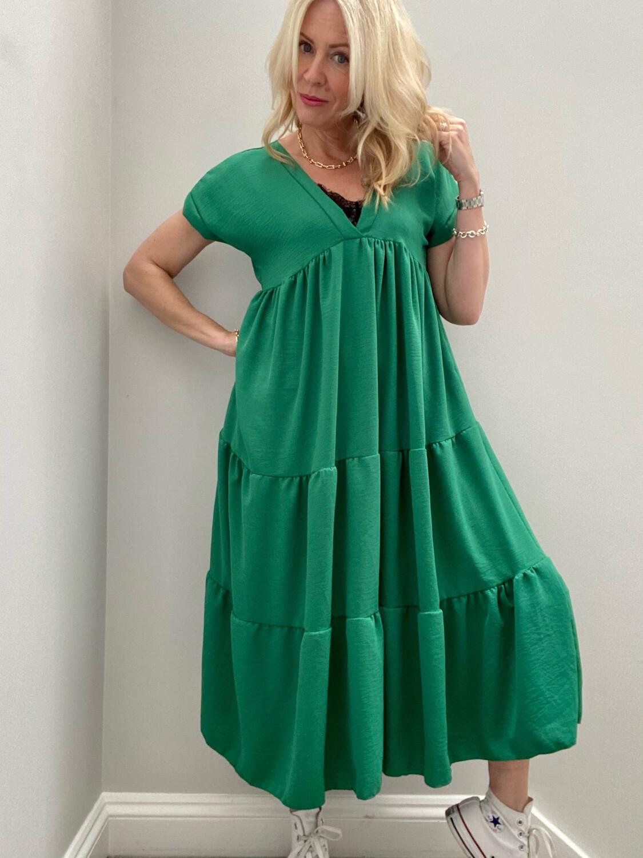 Cheska Midi Dress Emerald