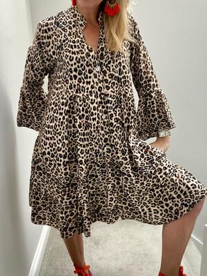Gina Leopard Dress