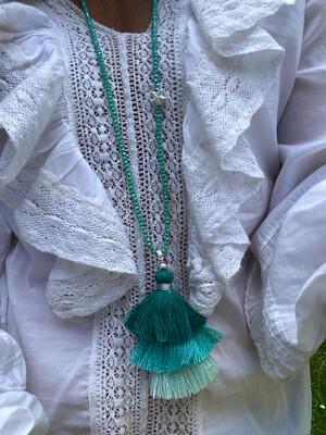 Indie Tassel Turquoise