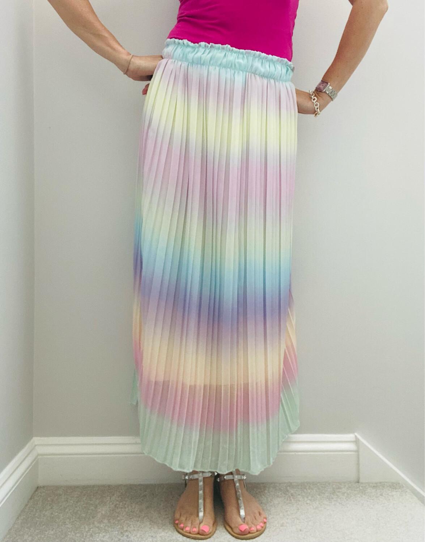 Devora Ombre Pleated Skirt