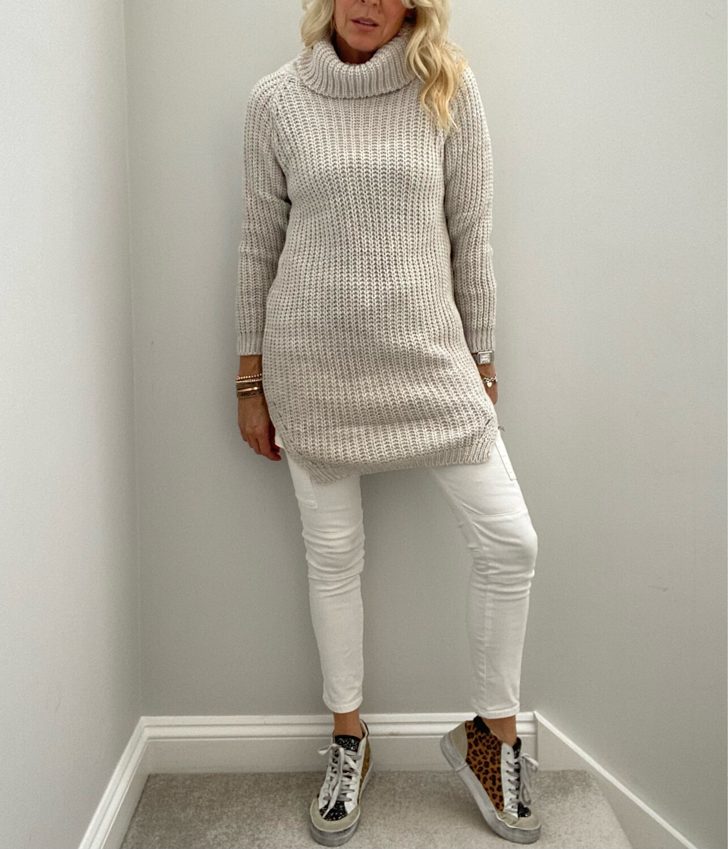 Mollie Long Knit Stone