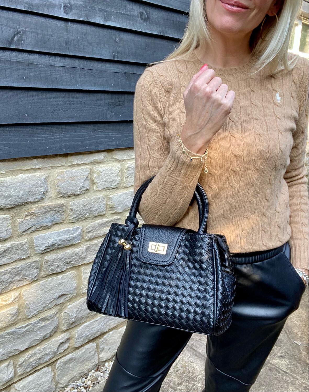 Esme Tassel Bag Black